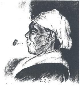 Agness Spurlock Hilton sketch